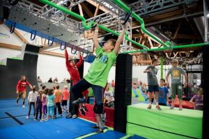 Authentic American Ninja Warrior obstacle courses for kids in chicago