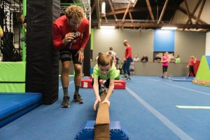 kids open play, kids camps and kids birthday parties on authentic american ninja warrior obstacles