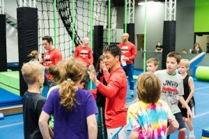 Ultimate Ninjas Chicago has agility courses for kids, swinging ropes, monkey bars, quintuple steps, climbing and warped walls