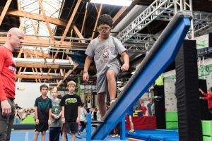 agility courses, swinging ropes, monkey bars, quintuple steps, climbing and warped walls among other exciting obstacles for kids to try, practice and master at Ultimate Ninjas